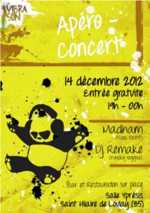 14-12-2012 Apéro Concert Vibrason : Madham et DJ Remake