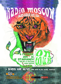 Radio Moscow et Birds are Alive au Stakhanov le 6 février. Org. Crumble Fight