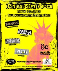 Festival Septif'Rock - Thears, Guerilla Poubelle, Wanted, Ath - Samedi 2 Mars 2013