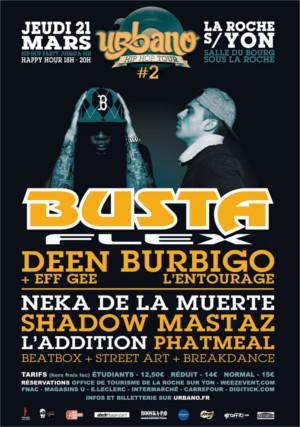 UrbanoTour 2. Hip-hop Party à la Roche-sur-Yon le Jeudi 21 Mars. Salle du Bourg sous la Roche. à partir de 18h