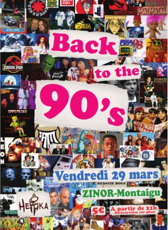 Back to the 90's - Soirée Djs par l'association Heyoka au ZINOR à Montaigu