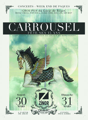 15 ans de Carrousel - Local de répétition autogéré - ZINOR - Montaigu