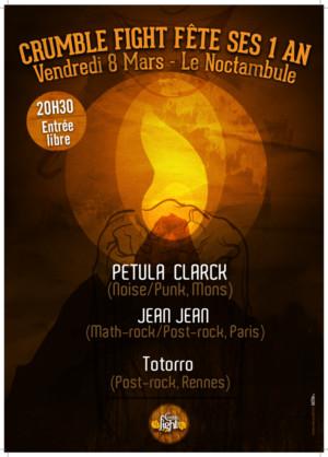 Venez fêter les 1 an de Crumble Fight au Noctambule à Montaigu le Vendredi 8 Mars à partir de 21h !