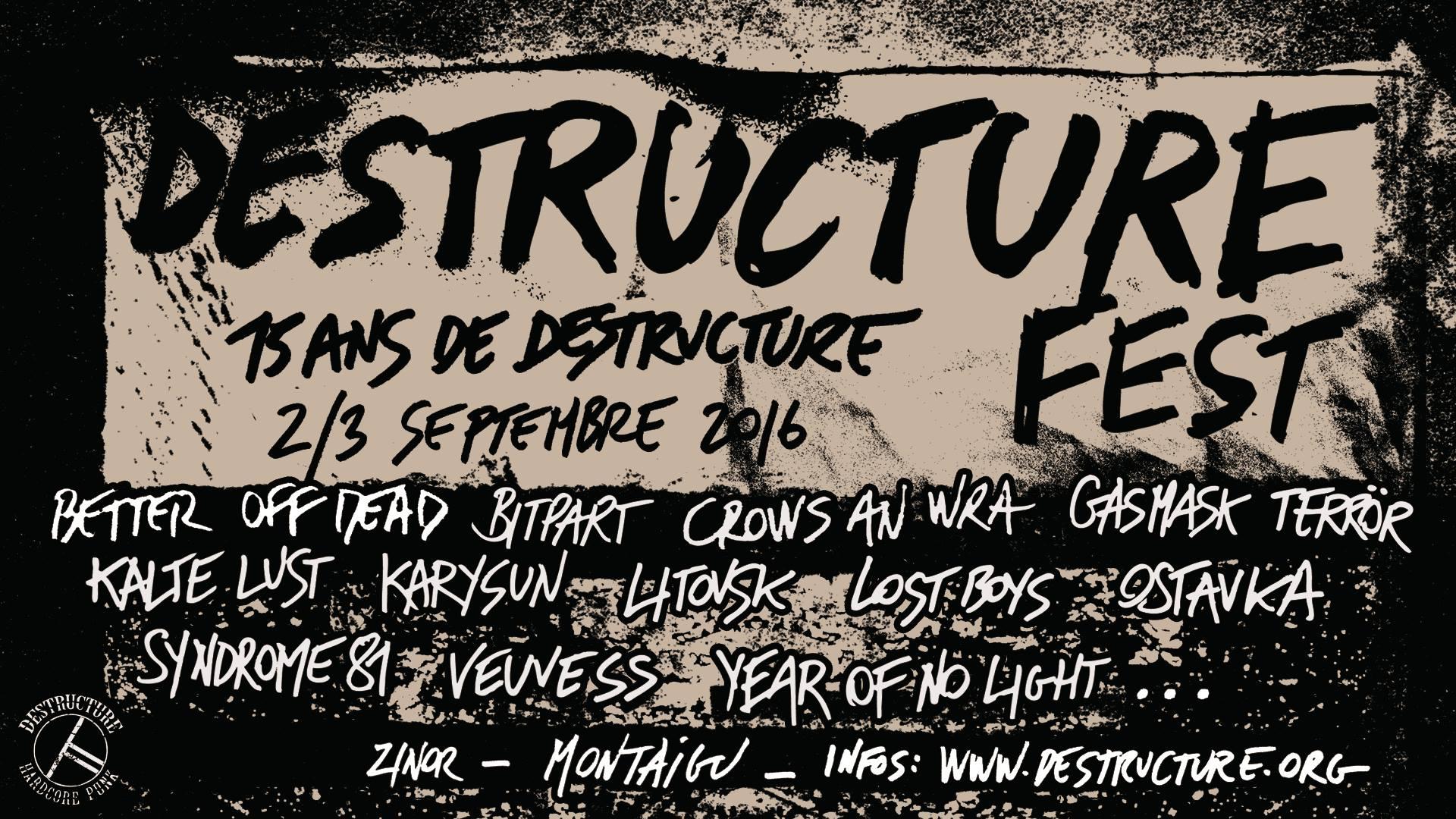 DESTRUCTURE 02 & 03 09 2016