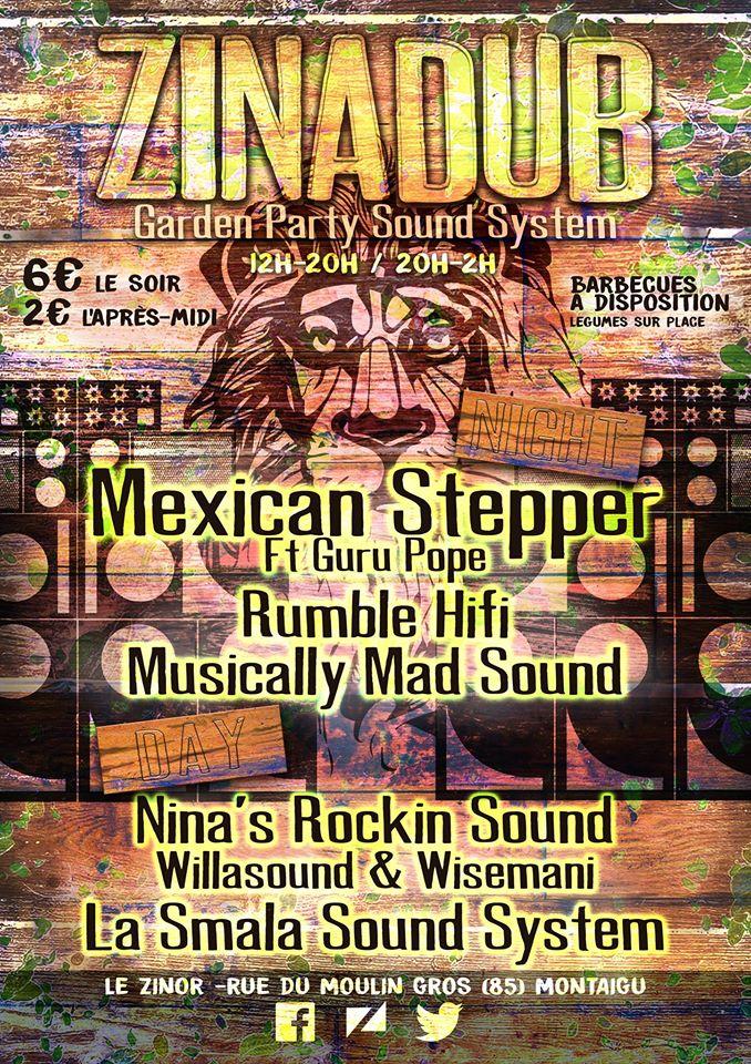 ZIN A DUB – GARDEN PARTY #1 27 08 2016