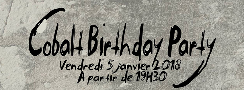 BANDEAU Cobalt birthday party
