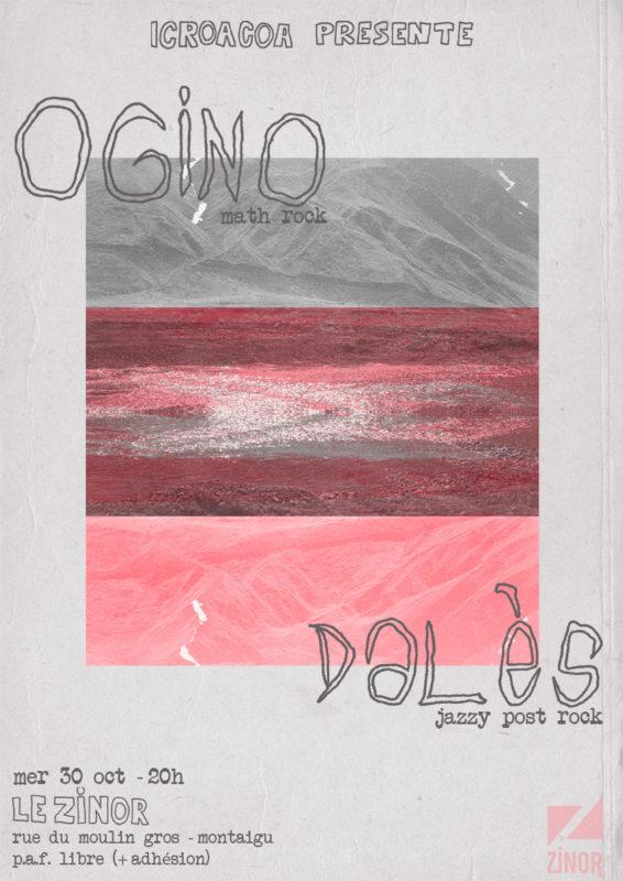 Affiche concert Dalès + Ogino au Zinor Montaigu
