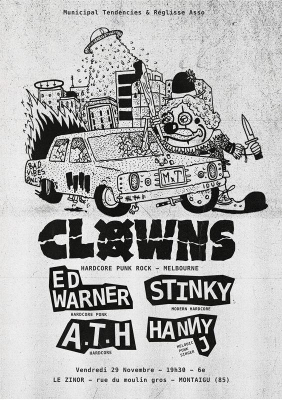 Clowns (Aust) / Stinky / Ed Warner / ATH / Hanny J affiche