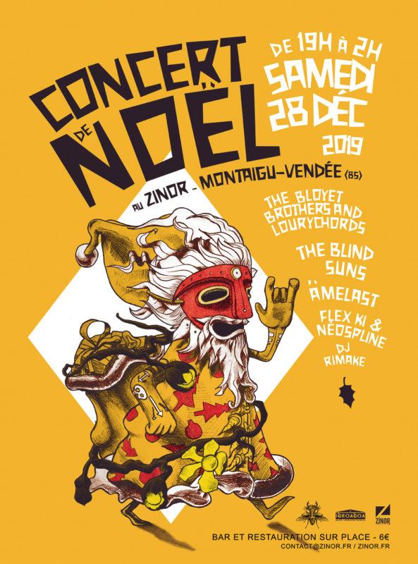 Affiche du concert de Noel d'Artsonic au Zinor Montaigu Vendée
