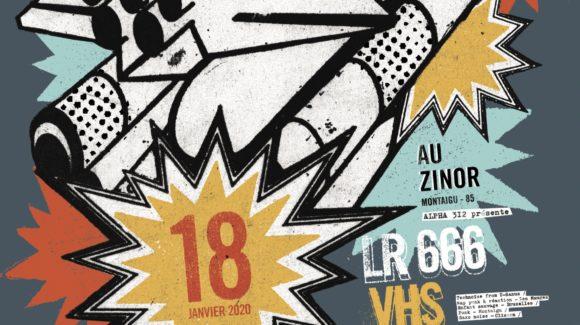 Affiche soirée Alpha 312 le zinor Montaigu Vendée